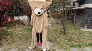 Image 5 - Selling Toy Big Size 200Cm Amerikaanse Giant Bear Huid, Teddybeer Jas, goede Kwaliteit Factary Prijs Zacht Speelgoed Voor Meisjes