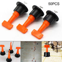 50pcs Reusable Tile Leveling System Leveler Floor Construction Tools