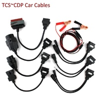 Hot OBD2 Cables full set 8pc car cables for car for VD TCS CDP Pro Plus Car Cable Diagnostic Tool Interface OBD II scanner cable