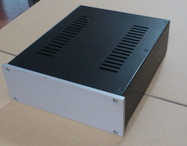 D-038 CNC All Aluminum Chassis Case Box Cabinet for DIY Audio Power Amplifier 260mm*90mm*311mm 260*90*311mm d 073 queenway 2612 blank cnc full aluminum small class a amplifier audio box amp case 260mm 120mm 311mm 260 120 311mm