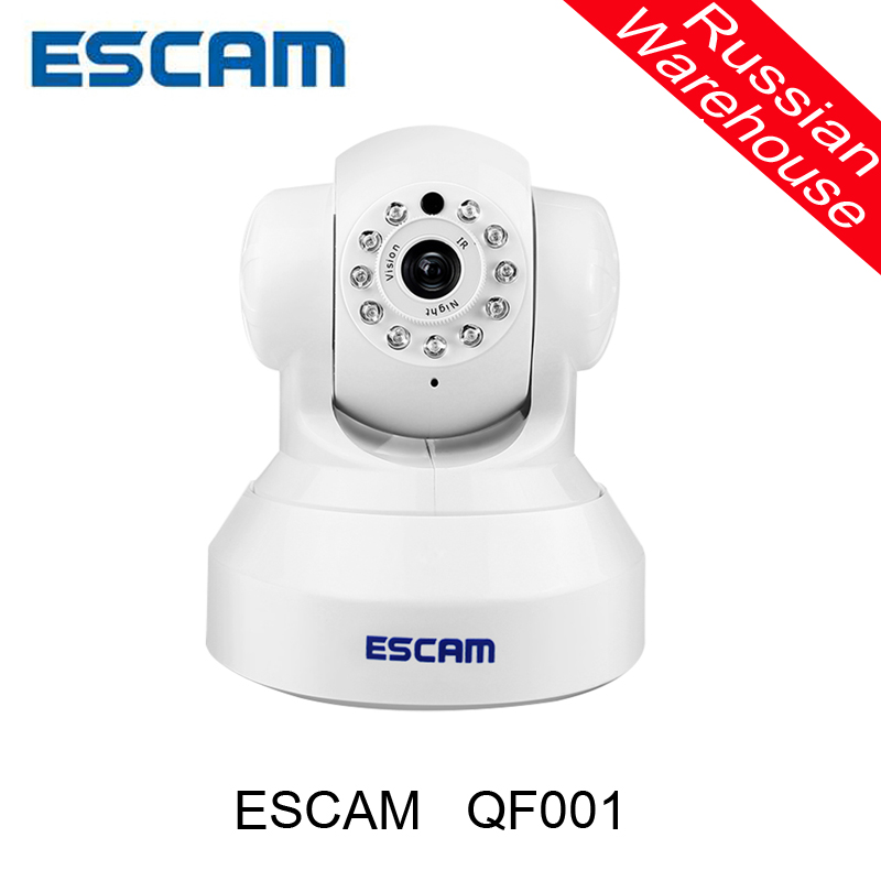 ESCAM Wireless 720P pan tilt wifi security ip font b camera b font QF001 support 32G
