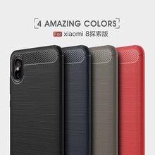 For Coque Xiaomi Mi 8 8SE Case Cover Carbon Fiber Soft TPU Case For Xiaomi Mi 8 Explorer Case Cover Funda For Xiomi MI 8 SE Bag leather case for xiaomi mi pad 4 mipad4 8 inch tablet case stand support for xiaomi mi pad4 mipad 4 8 0 case cover two style