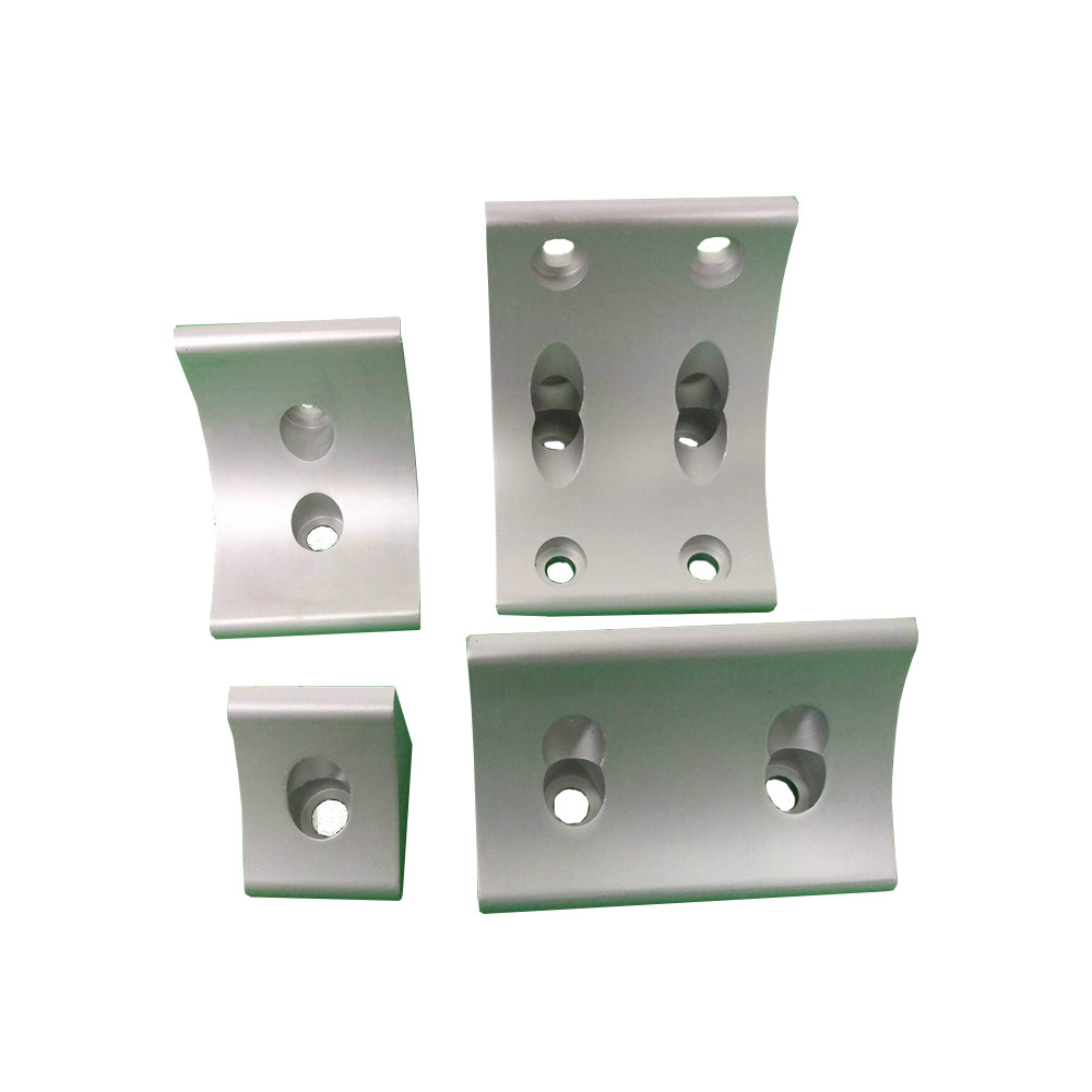 4Hole L type 90 Degree 6060/<font><b>8080</b></font>/9090/100100 connector Corner Angle Bracket Connection Joint Strip for Aluminum <font><b>Profile</b></font> image