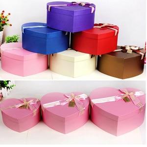 3 шт. в комплекте коробка для цветов в форме сердца, картонная подарочная коробка, букет цветочных принадлежностей, упаковочные материалы, у...