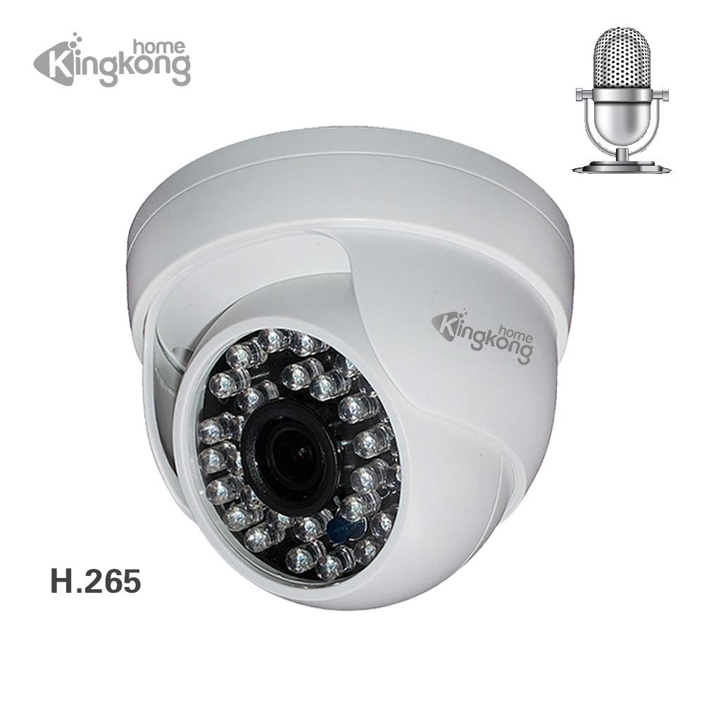 Kingkonghome 4MP 1080P IP Camera Built-in Microphone Audio Surveillance onvif night vision CCTV Security indoor dome ip cam p2p