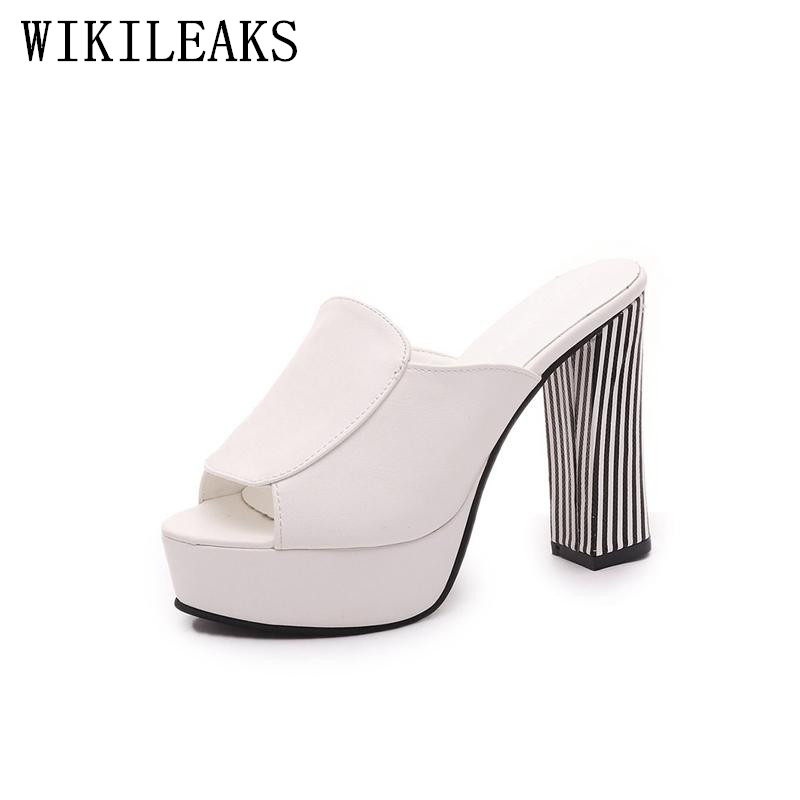 jelly shoes high heel platform shoes woman sandals sandalias plataforma 2017 designer fashion slides ladies peep toe mules women