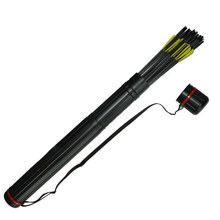 Buy online Bow Quiver Arrow with 12pics arrows fiberglass Telescopic Quiver Tube Canister for Compound Bow Archery Arrows