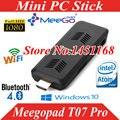Meegopad t07 pro mini vara pc intel atom cereja trilha x5-z8300 cpu quad-core 4 gb 32 gb 2.4 wi-fi bluetooth sistema operacional ubuntu