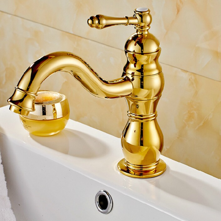 Free Shipping bathroom faucet Gold bathroom basin faucet ,Luxury basin sink faucet basin mixer High Quality Luxury water tap ems dhl free shipping gold finish bathroom sink beauty faucet gold clour sink faucet artistic basin faucet luxurious faucet