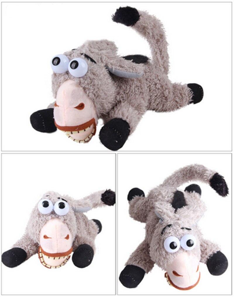 Anime donkey plush toys sound sensor control minion donkey rolling ...
