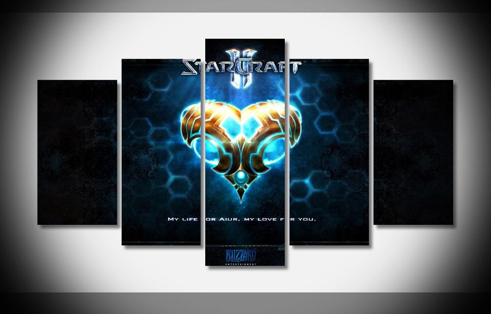Video juegos starcraft 2 wallpaper poster sin marco Galería wrap lámina inicio d