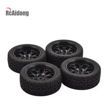 RC On-Road Car Rubber Tyre & Wheel Rim for 1:10 HSP HPI