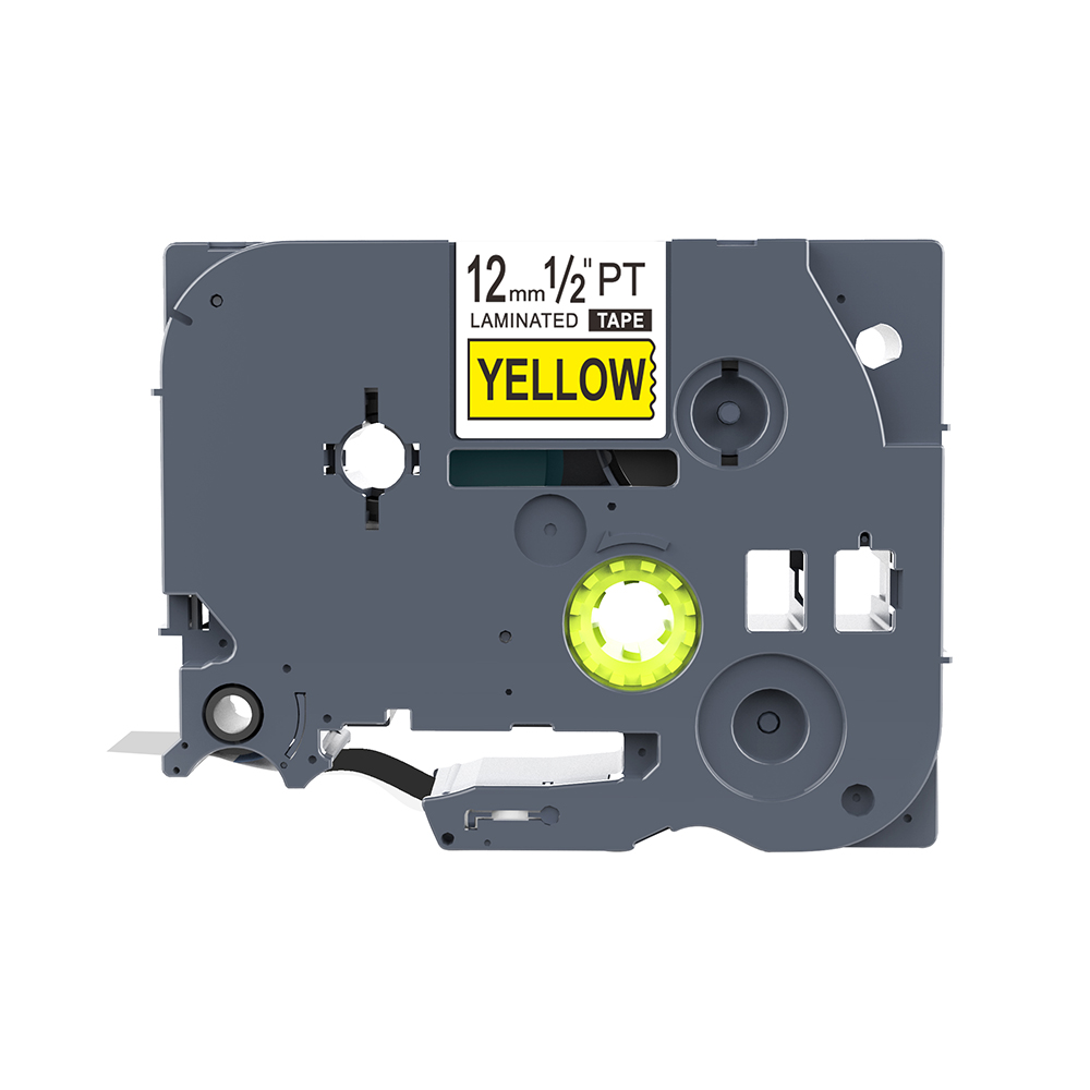 1 Piece Label Tape Tze631 Black On Yellow TZ2-631 Compatible For Brother P-touch Printer Tze Tape 12mm Laminated Label Tapes