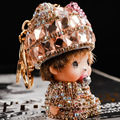 With diamond drill Car decoration Kiki Keychain Birthday gift Monchhchi HelloKitty Car key ring Ladies bag ornaments