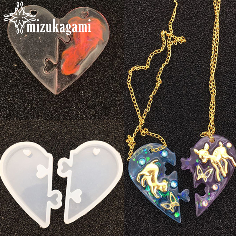 1pcs UV Resin Beautiful Jewelry Liquid Silicone Mold Love Heart Resin Charms Pendant Molds For DIY Decorate Making Jewelry