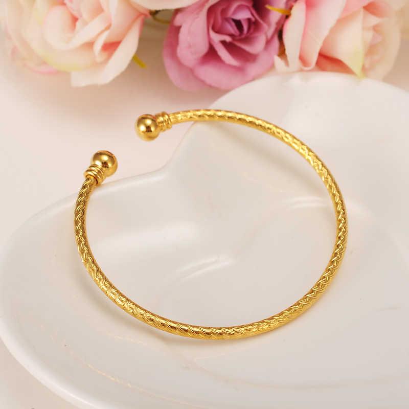 Bangrui nueva moda Dubai brazaletes de oro para hombres/mujeres pulseras de Color dorado brazaletes etíope/joyería africana