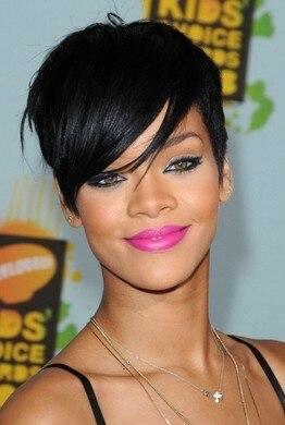 Celebrity Hairstyles Usa Star Rihannas Sexy Black Short Fashion