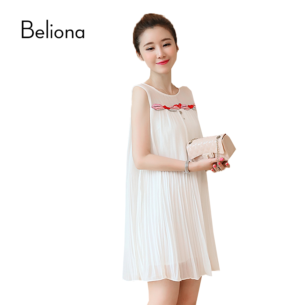 Lips appliques pleated maternity dress sleeveless pregnancy lips appliques pleated maternity dress sleeveless pregnancy clothes chiffon maternity clothing for pregnant women 2017 summer in dresses from mother kids ombrellifo Gallery