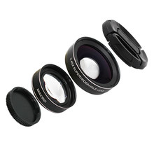 Ecusells Smartphone Lens Kit 0.45x Super Wide Angle & 12.5x Super Macro Lens HD Camera Lens for Iphone 7 6s 8 Xiaomi(China)