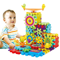 Bloco de poder-driven Jogar Montado 81 Peças de Transmissão de Engrenagens Blocos Brinquedos Educativos Para Crianças