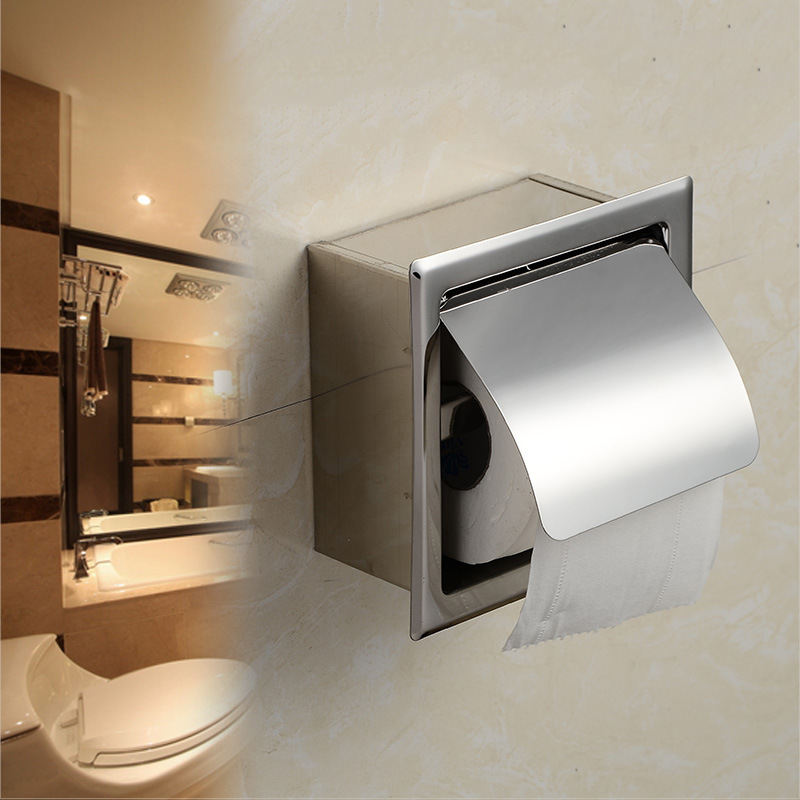 Free Shipping! Modern Square Polished Chrome Brass Toilet ... on Wall Mounted Tissue Box Holder id=61863