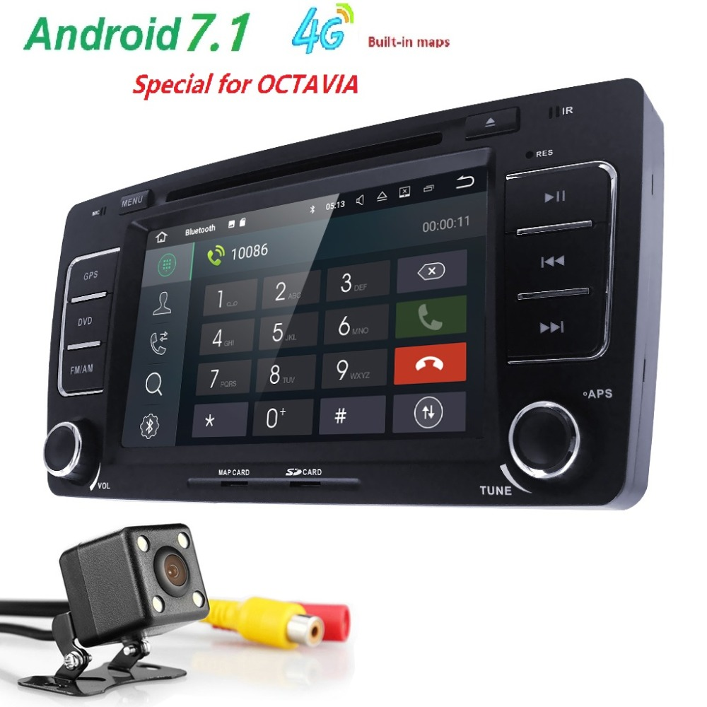 2Din GPS AutoRadio Android 7.1 Car DVD Player for Skoda Octavia 2 3 Yeti 2008 2009 2010 2011 2012 2013 2014 Audio Stereo Navi 4G isudar car multimedia player automotivo gps autoradio 2 din for skoda octavia fabia rapid yeti superb vw seat car dvd player