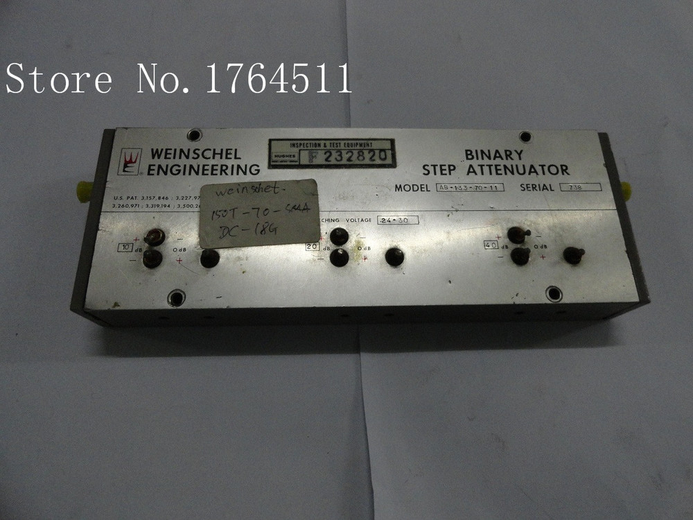 [BELLA] The Programmable Step Attenuator Weinschel AB-133-70-11 70dB 18GHz SMA