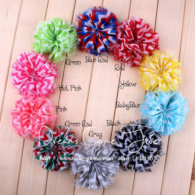 20 Pcs/lot 3.3 10 Colors New Hot Striped Chiffion Flower For Kids Hair Accessories Shabby Fabric Flower For Diy Baby Headbands Festive & Party Supplies