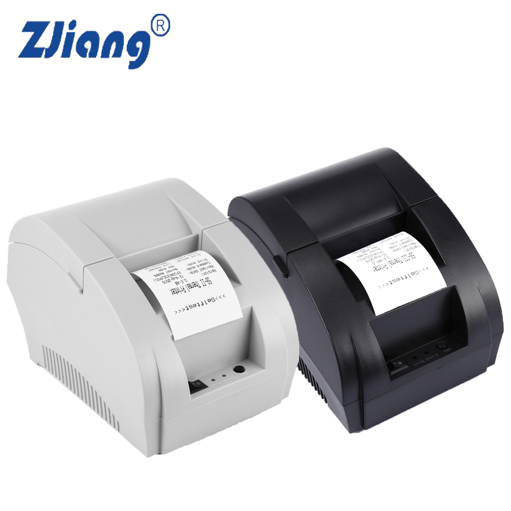 ZJ - 5890K Mini 58mm POS Receipt Thermal Printer with USB Port For Commercial Retail POS Systems 58mm thermal receipt printer 58mm usb thermal printer usb pos system supermarket nt 5890k