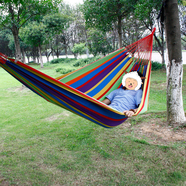 Free Outdoor 200*150cm 2 People Hammock Garden Swing Set Indoor Swing Bed  Relaxing Swing