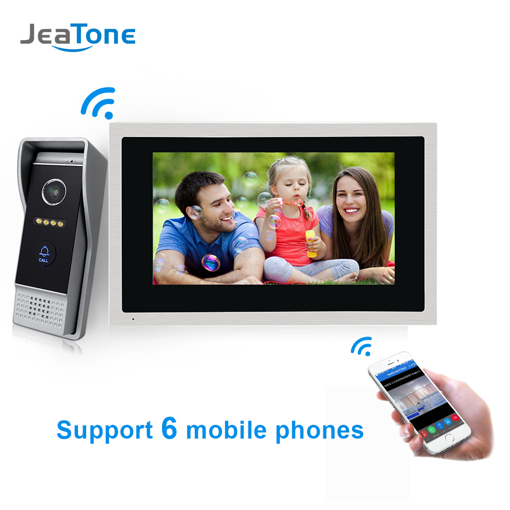 JeaTone 10 inch Touch Screen WIFI IP Video Door Phone Intercom System Villa Apartment Access Control System Motion Detection|Video Intercom| |  - title=