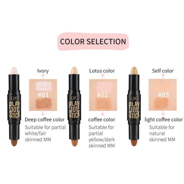 Women Highlighter  Face Concealer Contouring  Bronzers Highlighters Pen Cosmetic 3D Makeup Corrector Contour Stick