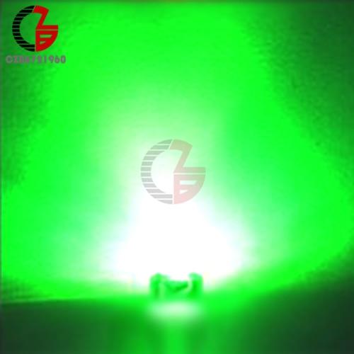 100 шт. 5 мм Диодная соломенная шляпа белый красный зеленый синий желтый фиолетовый Smd Smt Led прозрачная супер яркая широкоугольная лампа 20000mcd лампа - Испускаемый цвет: Green