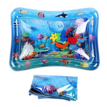 Baby Kids Water Play Mat Inflatable Infants Tummy Time Playmat Toys for Children Summer Swimming Beach Pool Game Cool Carpet Toy