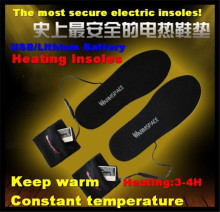 WS-SE215L Sporty 2000mAh Outdoor Ski&Hiking USB Electric Lithium Battery Self Heating Insoles,Thermostatic Warm 3-4h,38-46yards