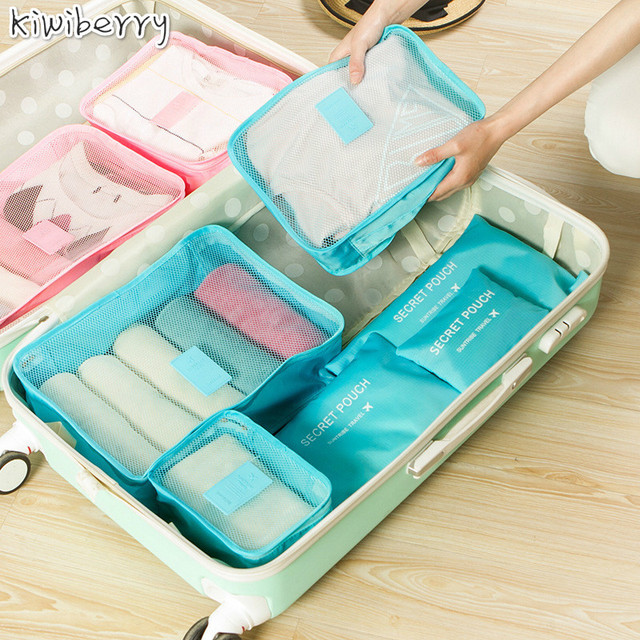 Travel Accept Package Waterproof Clothes Underwear Arrangement Transparent Bag Closet Organizer Trunk 6 Paper Set Sachet Zip