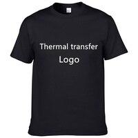 KINGLINLANG Brand T Shirt Logo Custom Cotton Various Colors High Quality T Shirt Hot Transfer Custom