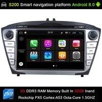 Android 8.0 system PX5 Octa 8 Core CPU 2G Ram 32GB Rom Car DVD Radio GPS Navigation for Hyundai iX35 IX 35 Tucson 2009 2015