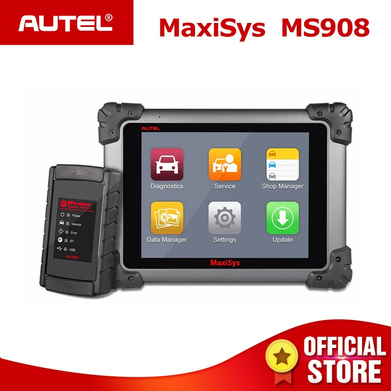 Autel Maxisys MS908 OBD2 Automotive Diagnostic Tool Scanner Analysis System with All Systems OBDII ECU Advanced Coding PK MS908P