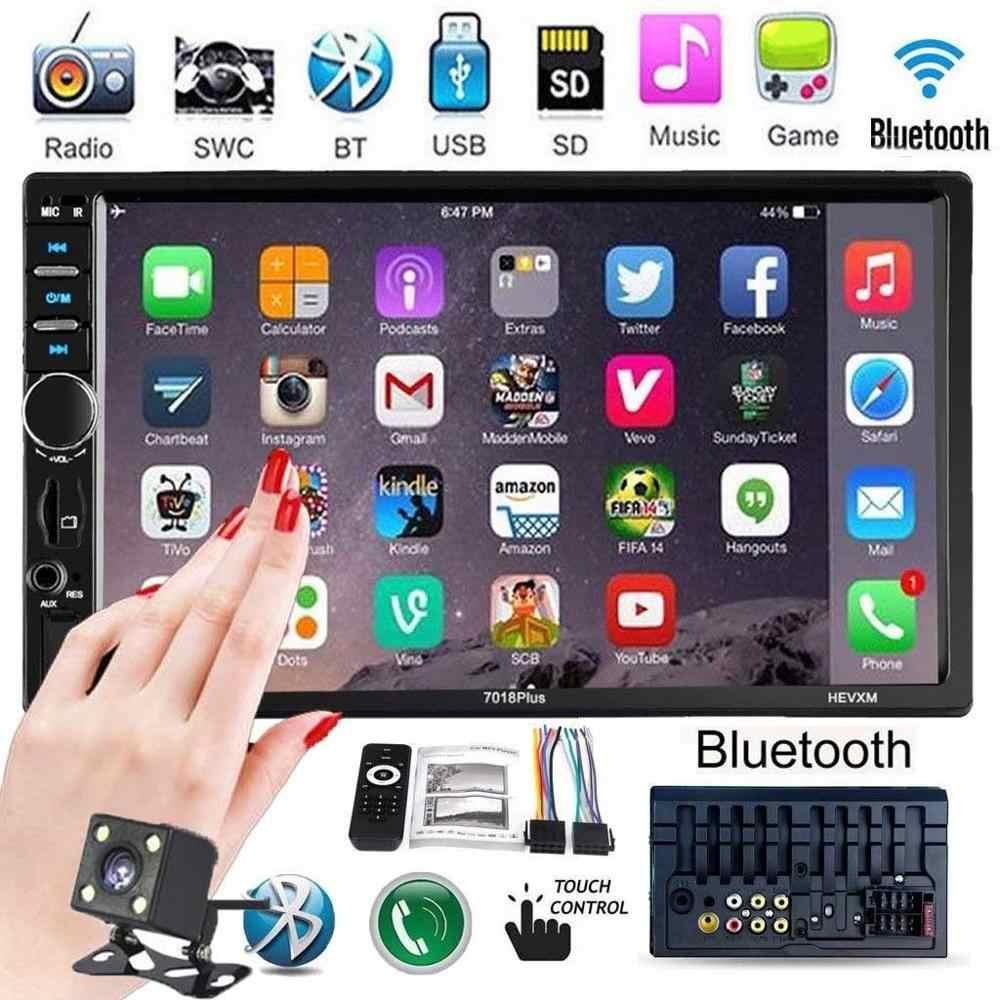 """2 Din Xe Ô Tô Đài Phát Thanh Autoradio 7 """"HD Đa Phương Tiện Màn Hình Cảm Ứng Tự Động Âm Thanh Xe Hơi MP5 Bluetooth USB TF FM Camera Double Din"""