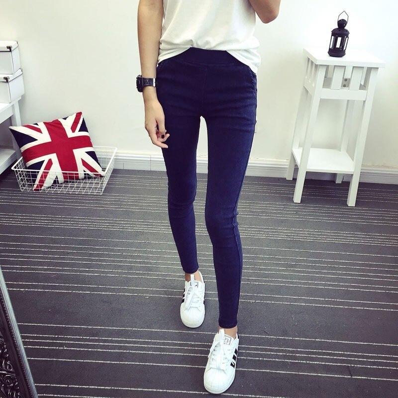 HTB1TkvOXorrK1RkSne1q6ArVVXab New 2018 Washed Women Imitation Jeans Mujer Stretch Cotton Denim Pants Trousers Boyfriend Big Size Skinny Jeans Pencil Pants