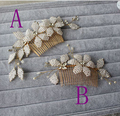 Two Piece (A and B) Gold Real Image Bridal Accessories Cheap Modest Beading 2016 Hot Sale Free Shipping In Stock Sexy