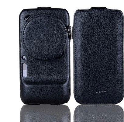 Цена за Leather Case For Samsung Galaxy S4 Zoom sm-c101 c1010 Объектив Коровьей Крышка с крышкой Объектива (2 в 1)