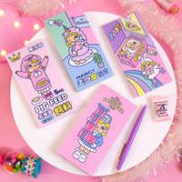 1 satz Memo Pads Sticky Notes Kawaii Einhorn Mädchen Diy Papier Notizblock Tagebuch Scrapbooking Aufkleber Büro Schule schreibwaren Lesezeichen