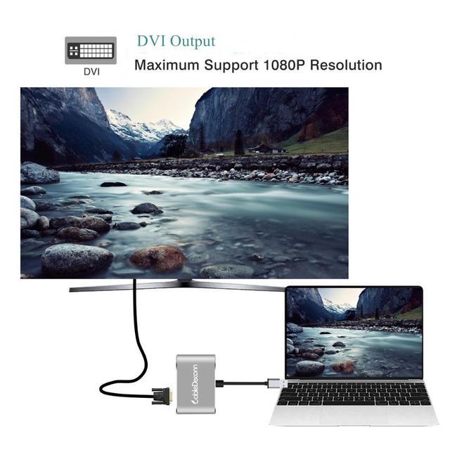 Usb3.0 para hdmi dvi adaptador hd 1080 p vídeo conversor de gráficos para windows 7/8/10 apenas, suporte hdmi dvi exibição