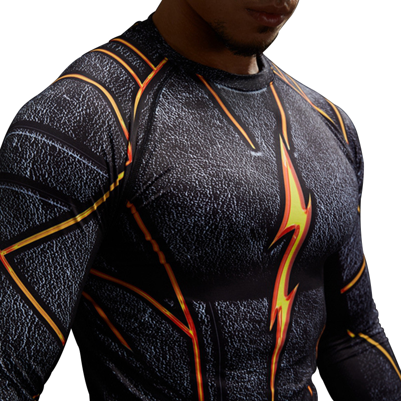 Adhemar The flash rashgard compression shirt with long sleeve for sports breathable Tops quick drying running T shirts for men in Running T Shirts from Sports Entertainment