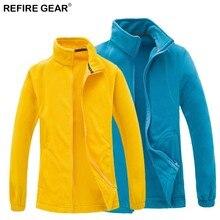 цены на Refire Gear Men Women Winter Fleece Jackets Outdoor Sports Thermal Warm Windbreaker Hiking Trekking Skiing Fishing Hunting Coat  в интернет-магазинах