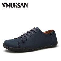 VMUKSAN New 2017 Mens Shoes Split Leather Men's Flats Handmade Mens Loafers Fashion Designer Slip On Espadrilles
