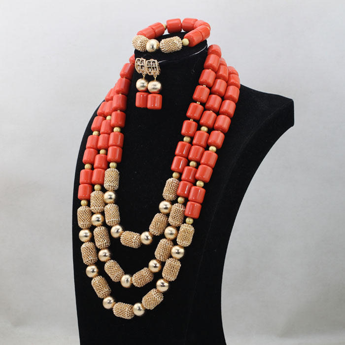 Luxury Nigerian Wedding Beads Jewelry Set Traditional African Wedding Bridal Statement Necklace Set Dubai Free Shipping Luxury Nigerian Wedding Beads Jewelry Set Traditional African Wedding Bridal Statement Necklace Set Dubai Free Shipping CNR819