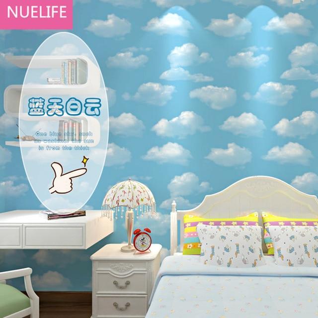 0,53x10 mt Junge mädchen schlafzimmer 3d blauen himmel weiße wolken ...